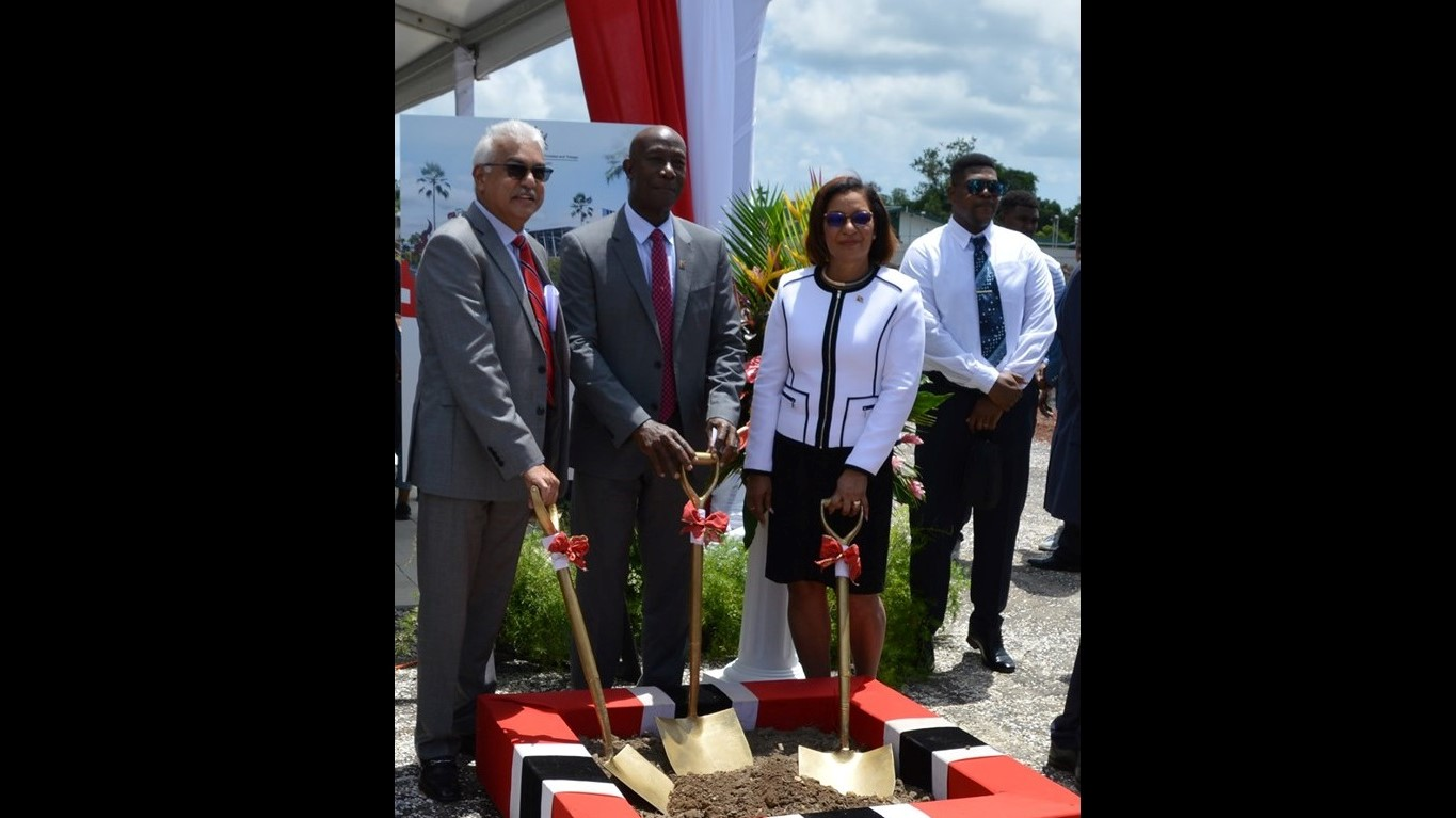(L-R) Minister of Health Terrence Deyalsingh, Prime Minister Keith Rowley, and Member of Parliament for Toco/Sangre Grande Glenda Jennings-Smith (Image: The Office of the Prime Minister)