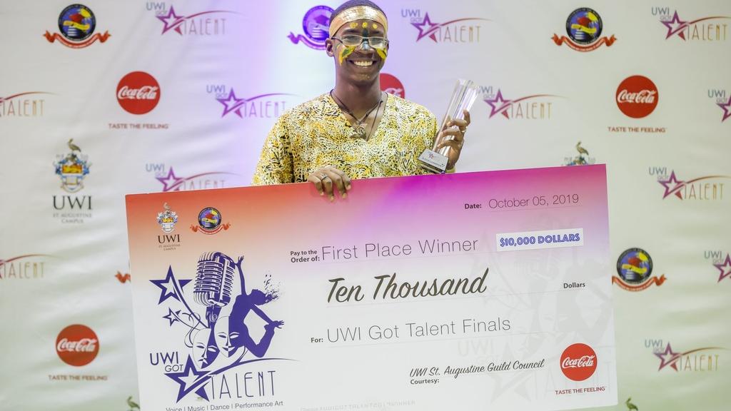 Pannist Emmanuel Joseph is the winner of the 2019 UWI Got Talent competition