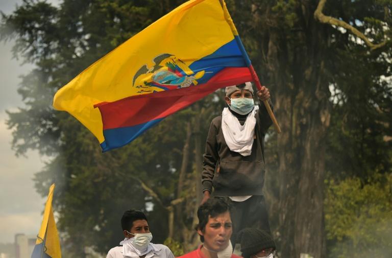 Manifestation près de l'Assemblée nationale à Quito, le 12 octobre 2019