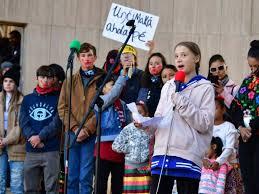 Greta Thunberg prend la parole à Denver (Colorado), le 11 octobre 2019 afp.com - Frederic J. BROWN