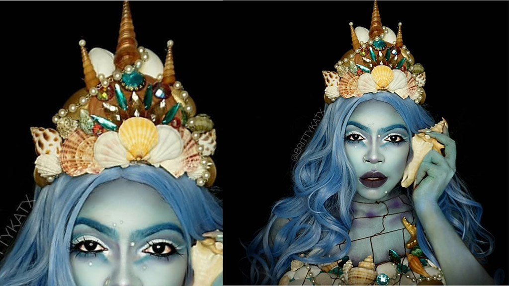 Make-up artist Brittany Coke fronts an oceanic impression. (Photos: Contributed)