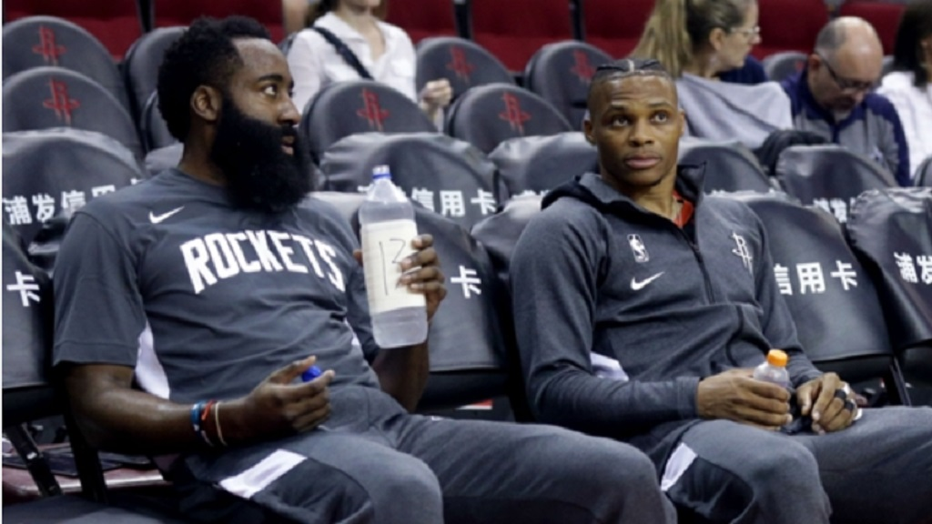 James Harden and Russell Westbrook.