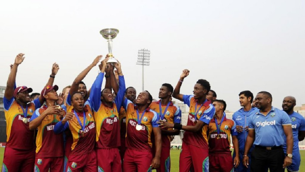 West Indies Under-19s celebrate after winning the 2016 staging.