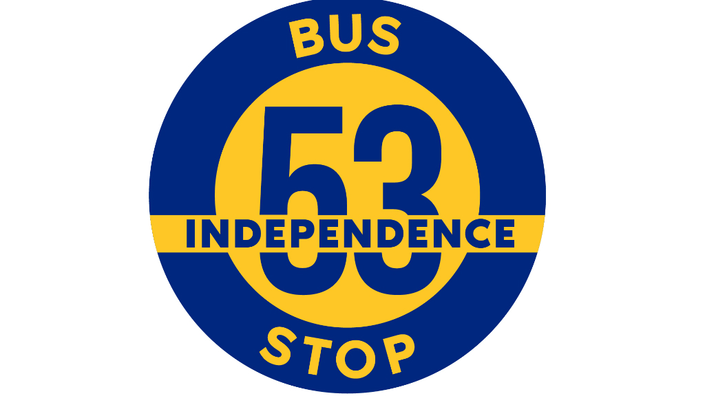 Loop and Digicel's Independence bus stop.