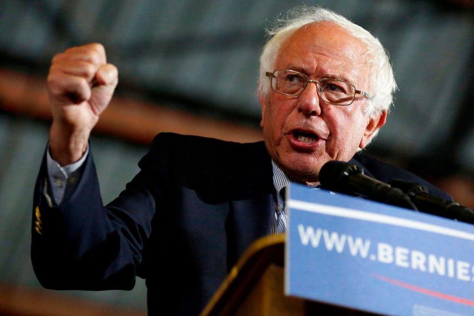 Le sénateur indépendant Bernie Sanders, candidat à l'investiture démocrate pour briguer la Maison-Blanche Credit Photo : AFP