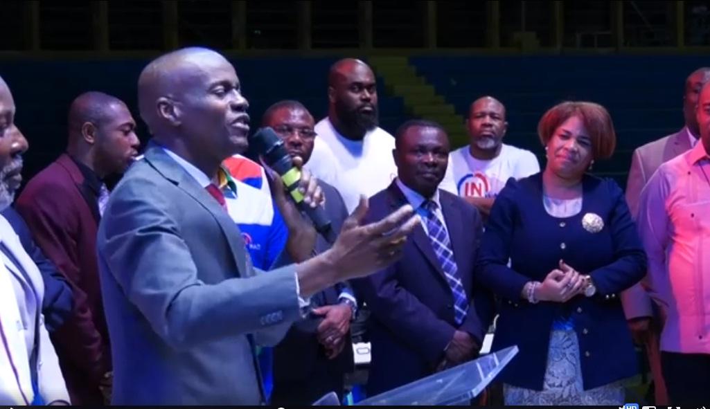 Jovenel Moise au Concert In Haiti/ Photo et vidéo: Facebook Jovenel Moise