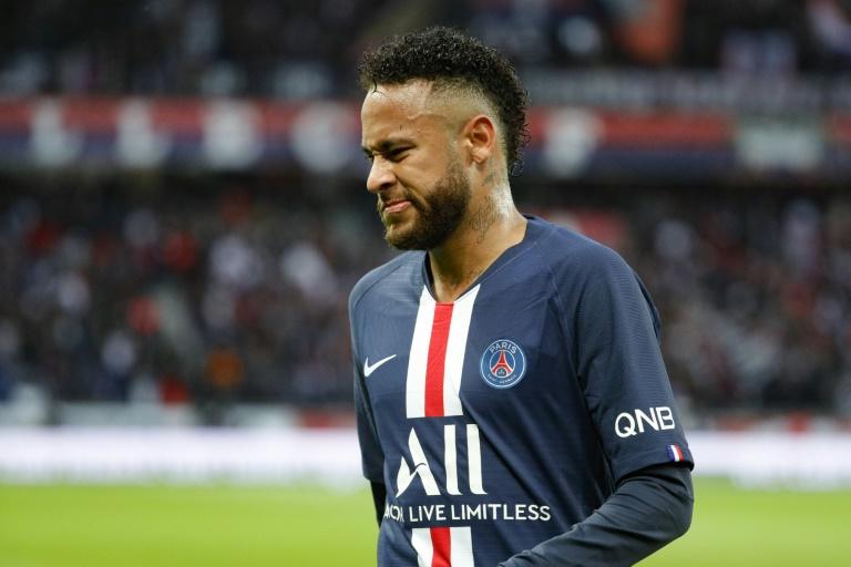 La star brésilienne du PSG Neymar lors du match contre Angers le 5 octobre 2019 au Parc des Princes