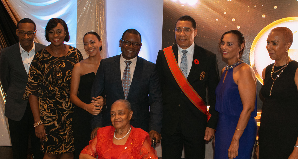 Prime Minister Andrew Holness joined family and friends of JEP CEO  Wayne McKenzie for a celebratory dinner following the National Honours And Awards