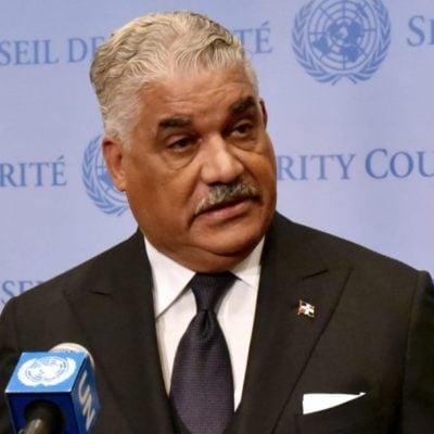 Le ministre des Affaires étrangères, Miguel Vargas./Photo: El Nuevo Diario.