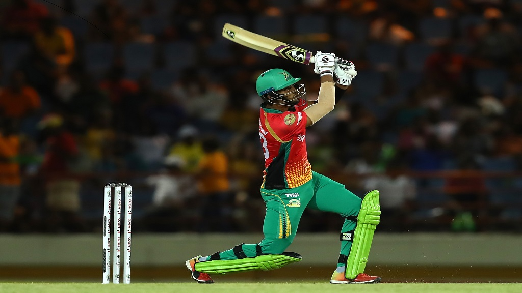 Jamaican Brandon King playing for Guyana Amazon Warriors in the just-concluded Caribbean Premier League.