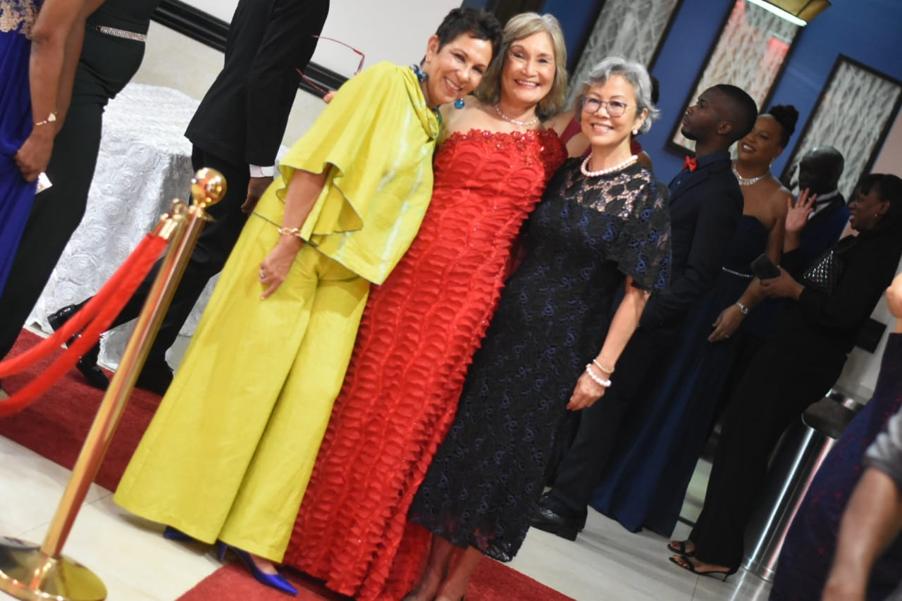 The guest of honour Thalia Lyn (centre) shared the spotlight with attorney-at-law Anne Marie White-Feanny (left) and CB Group Director Lori-Ann Hendrickson Lyn. (Photos: Marlon Reid)