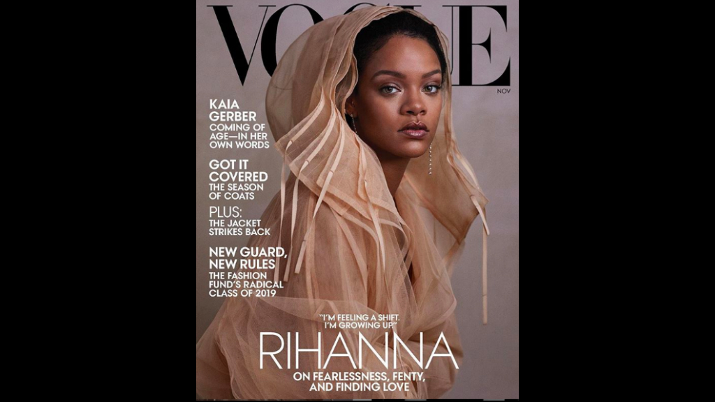 Rihanna's November 2019 Vogue cover.