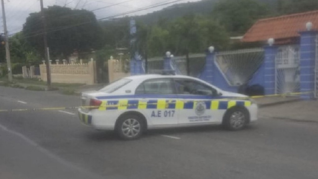 The scene where six persons were shot - one fatally - at a medical facility in Vineyard Town, St Andrew on Wednesday.