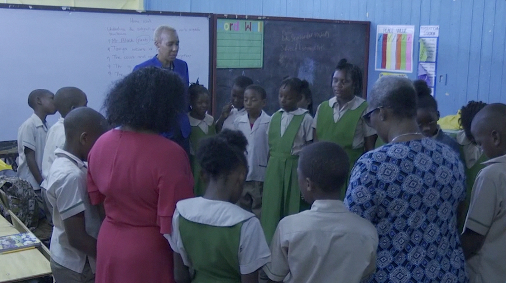 Member of parliament for St Andrew Eastern Fayval Williams visited the Hope Valley Experimental School to offer words of comfort to the friends, teachers and classmates of the deceased.