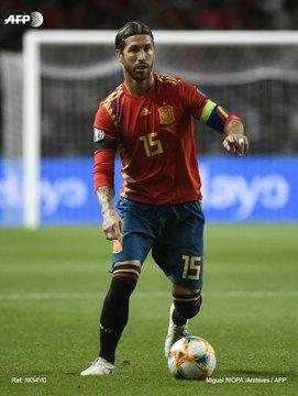 Euro-2020: 168e sélection pour Ramos, nouveau record d'Espagne