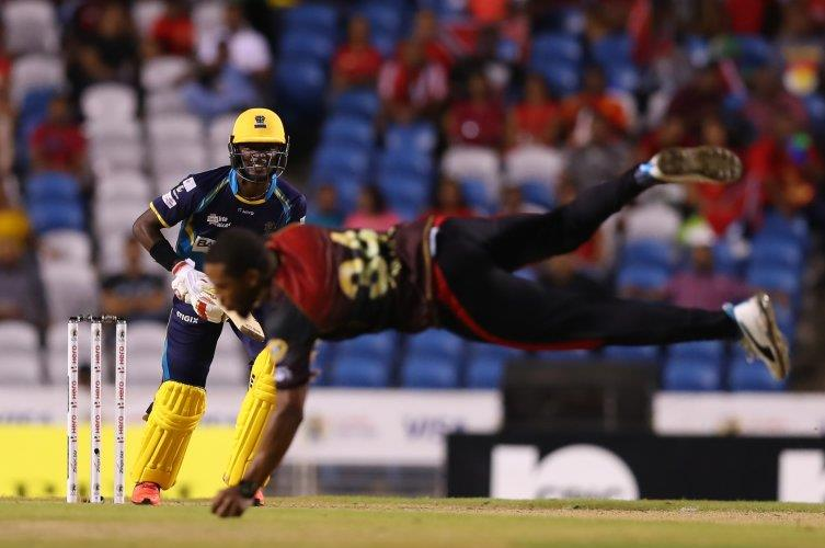 Chris Jordan's catch during TKR's loss to the Barbados Tridents is one of the catches of the tournament
