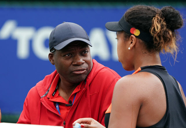 Naomi Osaka et son père.