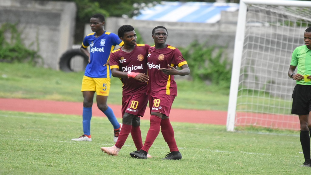 Wolmer's Boys' players react during a recent Manning Cup match.