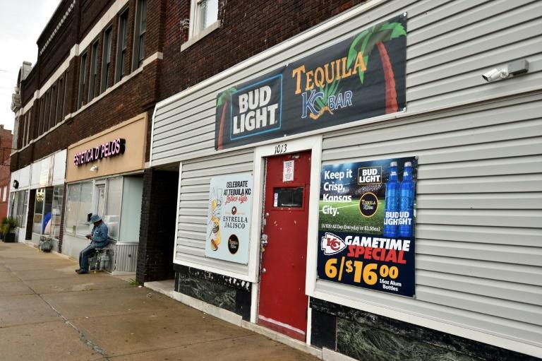 Le bar Tequila KC où quatre personnes ont été tuées et cinq blessées lors d'une fusillade, le 6 octobre 2019 à Kansas City afp.com - Ed Zurga