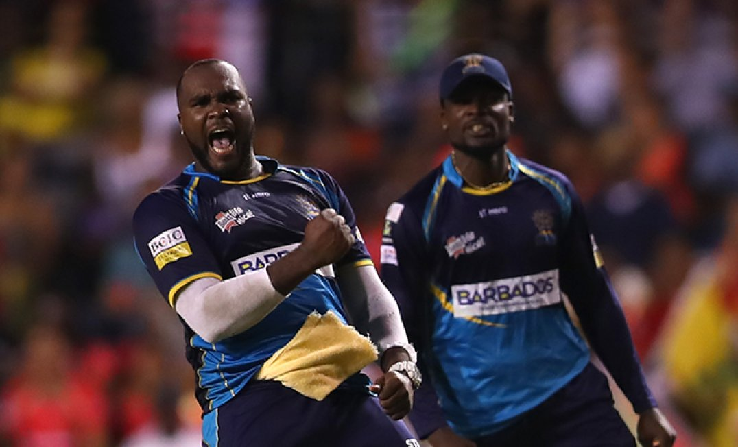 Ashley Nurse (left) and Jonathan Carter (right) turned in brilliant contributions to lead the Barbados Tridents to the 2019 CPL title