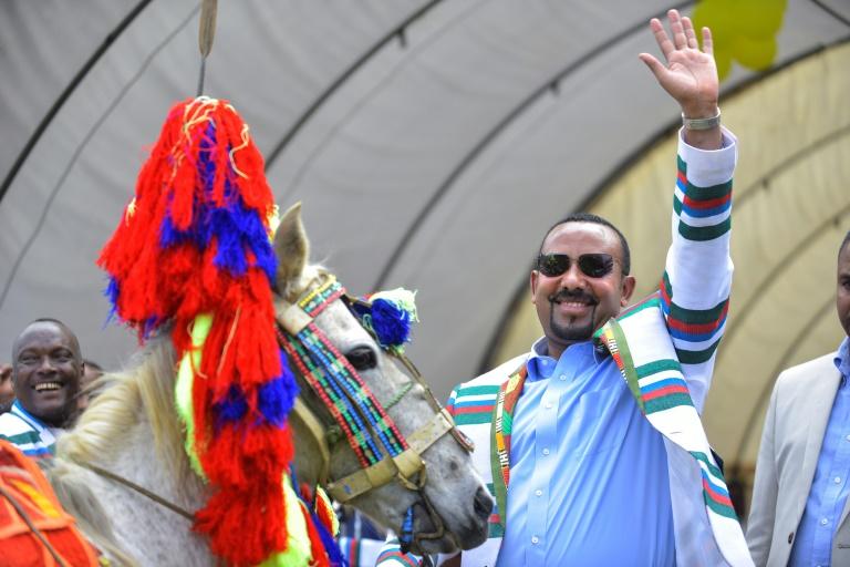 Le Premier ministre Abiy Ahmed lors d'une visite à Bonga, dans la province de Kaffa, dans le sud-ouest de l'Ethiopie, le 15 septembre 2019