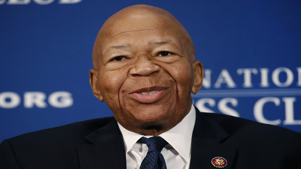 In this August 7, 2019, file photo, Rep. Elijah Cummings, D-Md., speaks during a luncheon at the National Press Club in Washington. (AP Photo/Patrick Semansky, File)