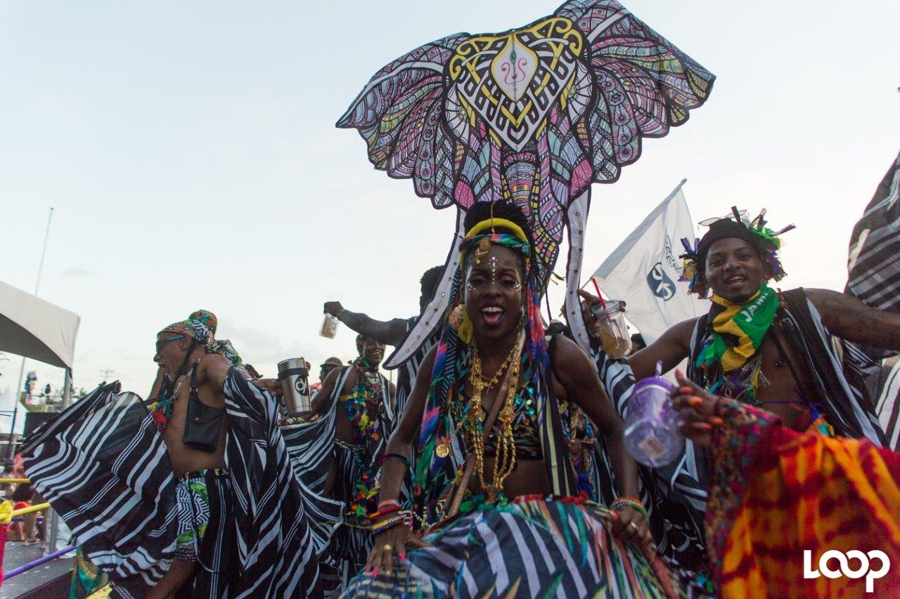 A masquerader from The Lost Tribe's presentation TAJ. T&T saw an increase in visitors over the 2019 Carnival period.