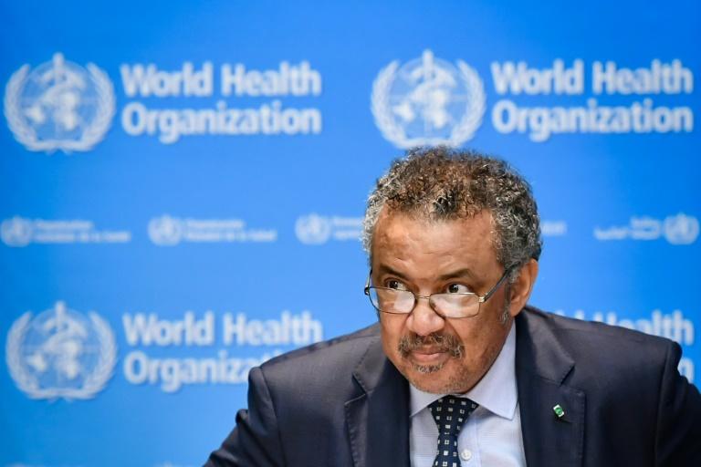 directeur général de l'OMS Tedros Adhanom Ghebreyesus, le 18 octobre 2019 à Genève en Suisse