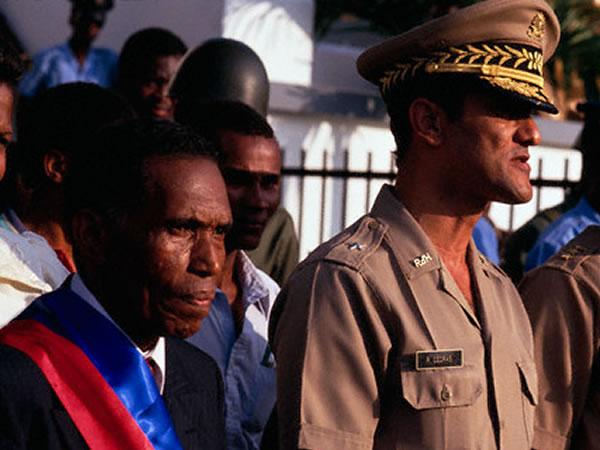 Joseph Nérette et Joseph Raoul Cédras. Crédit : Haitian Photos