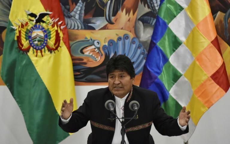 Le président sortant bolivien Evo Morales à La Paz le 23 octobre 2019