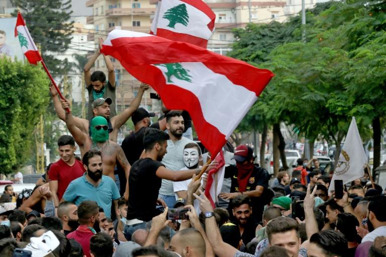 Manifestation contre le pouvoir, à Saïda, dans le sud du Liban, le 19 octobre 2019