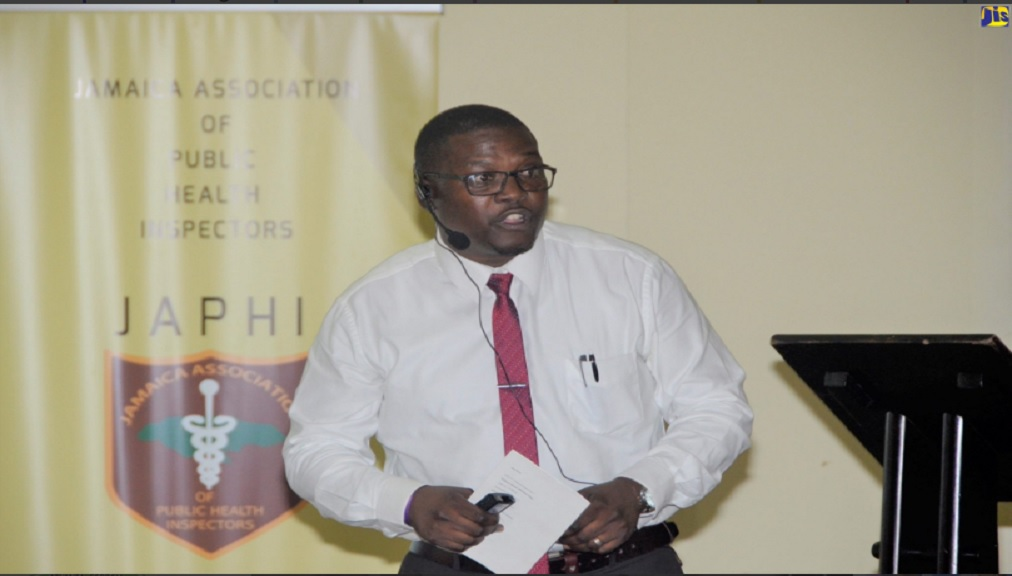 Vector Control Officer at the St. Elizabeth Health Department, Michael Myles, speaks at the 73rd annual Jamaica Association of Public Health Inspectors (JAPHI) Educational Conference, at the Grand Palladium Resort in Hanover