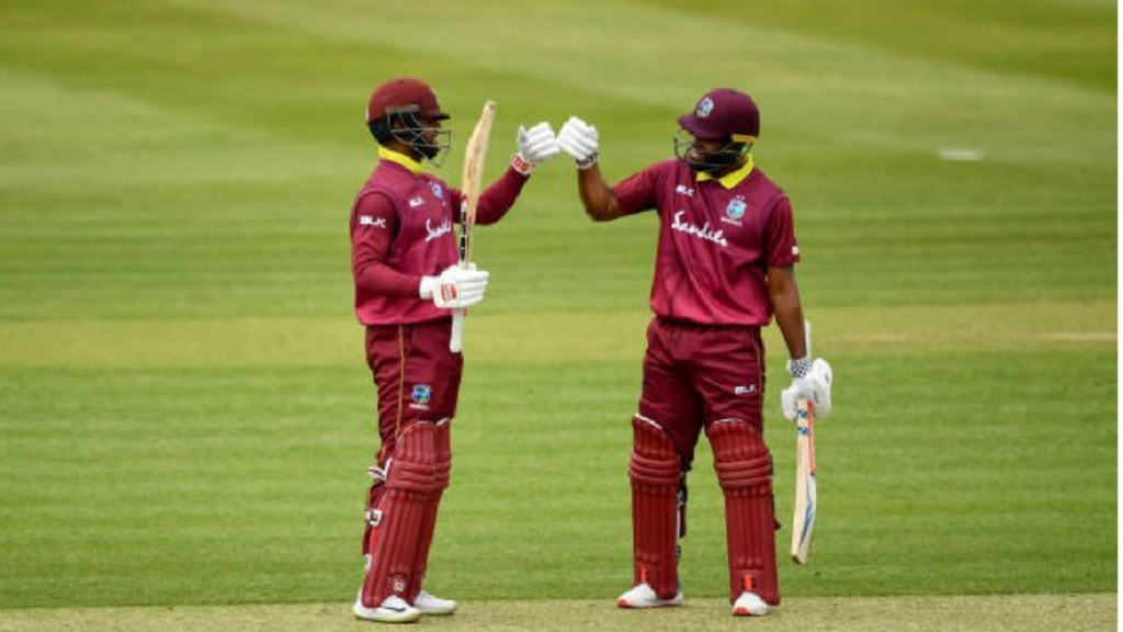 West Indies openers Shai Hope and John Campbell.