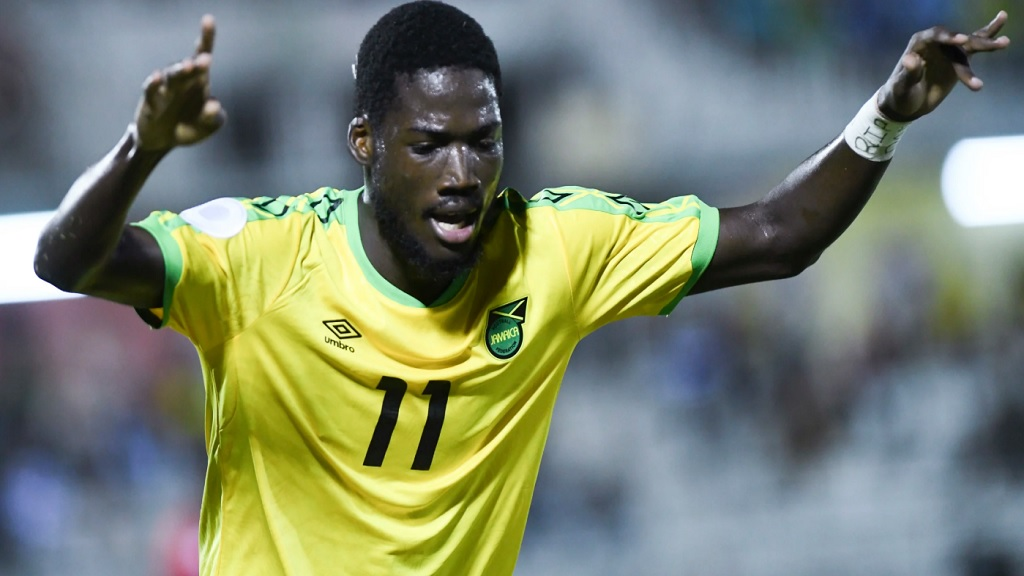 Reggae Boyz' Shamar Nicholson, who had kicked a penalty very high over the crossbar, spared his blushes to score on the stroke of full time.