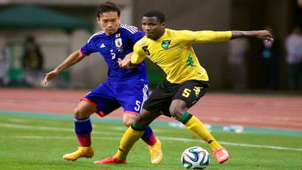 Alvas Powell in action for the Reggae Boyz.