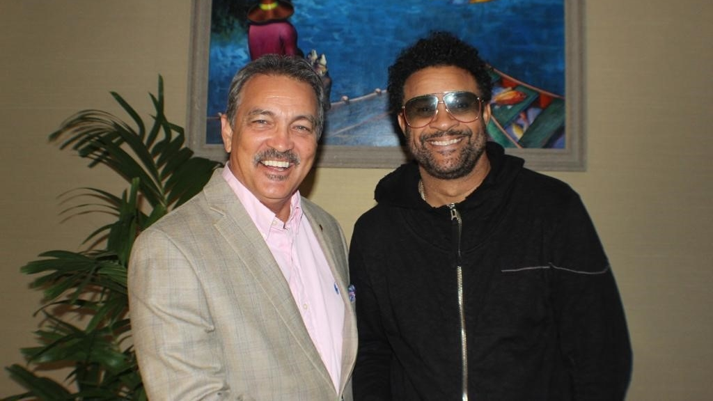 Tourism Minister Charles Fernandez with superstar Shaggy