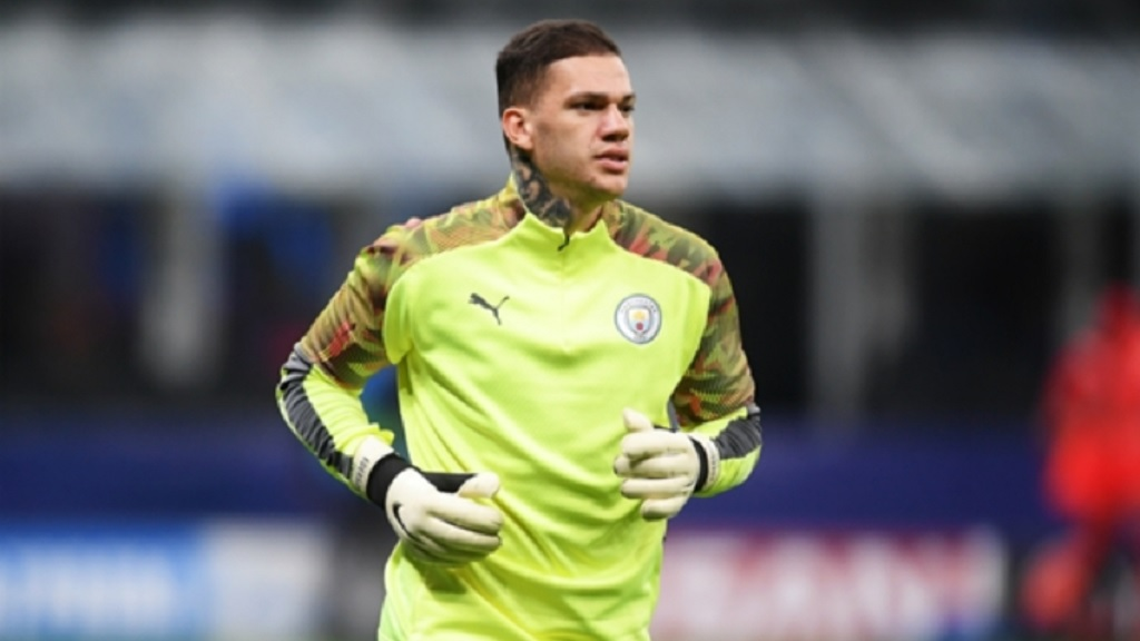 Manchester City goalkeeper Ederson.