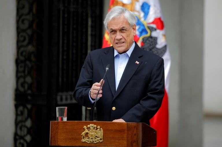 Le président chilien Sebastian Pinera le 26 octobre 2019 à Santiago du Chili