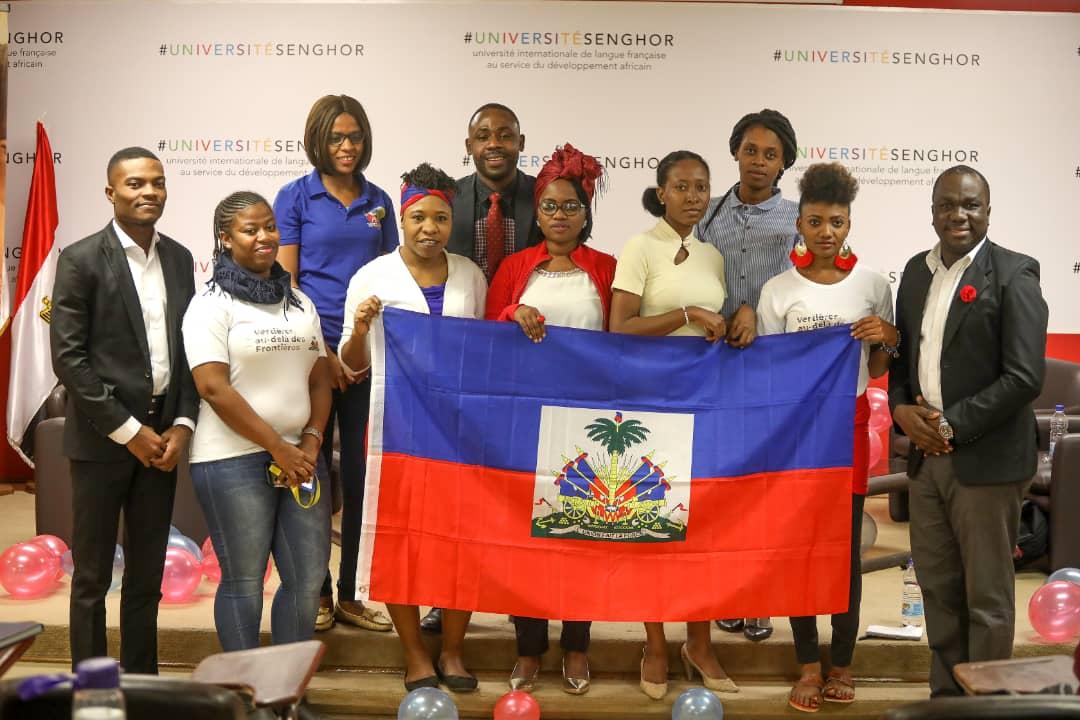 La cohorte des étudiants haïtiens en Égypte, 18 novembre 2019