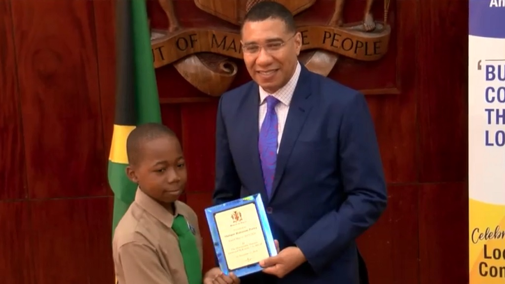 Jamaica's youth mayors made a courtesy visit on Prime Minister Andrew Holness.