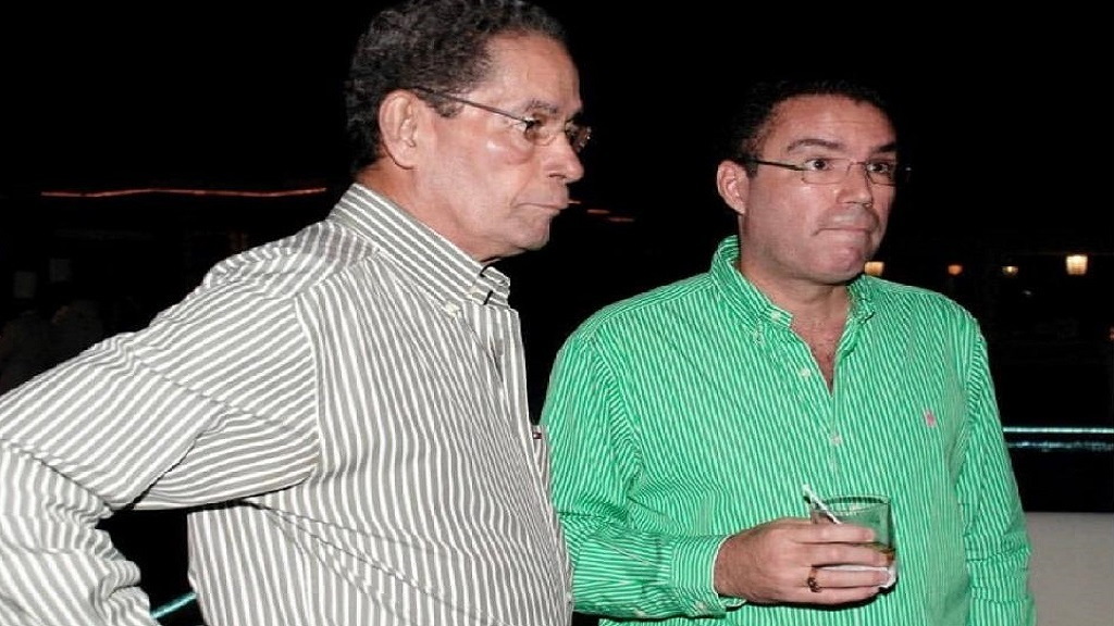 Douglas (left) and Daryl Vaz at a social engagement.