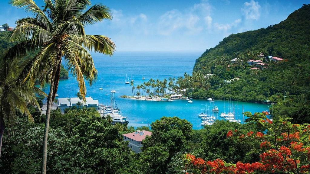 Marigot Bay, St Lucia. Photo courtesy www.caribbeantravel.com