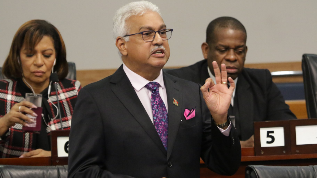 Health Minister Terrence Deyalsingh, contributes to the debate on The Appropriation (Financial Year - 2020) Bill, 2019. © 2019 Office of the Parliament.