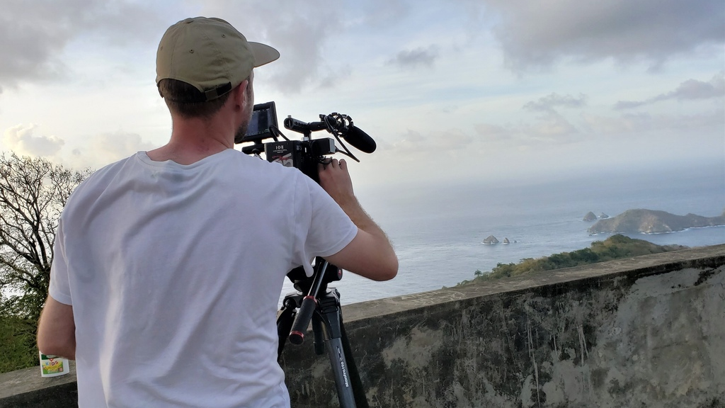 National Geographic's camera man captures the scenic view from Flagstaff Hill, including shots of Little Tobago, Goat Island and more.