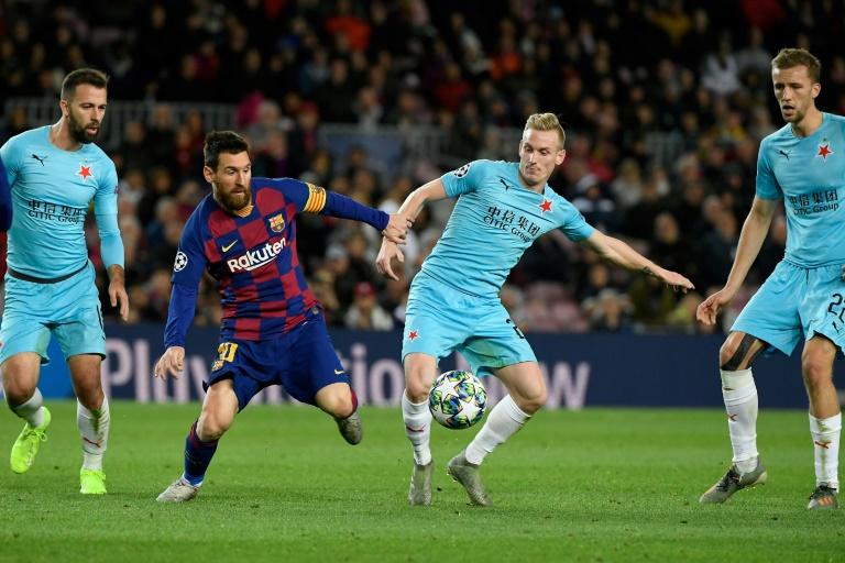 Le FC Barcelone et Lionel Messi ont buté sur le Slavia Prague au Camp Nou, le 5 novembre 2019