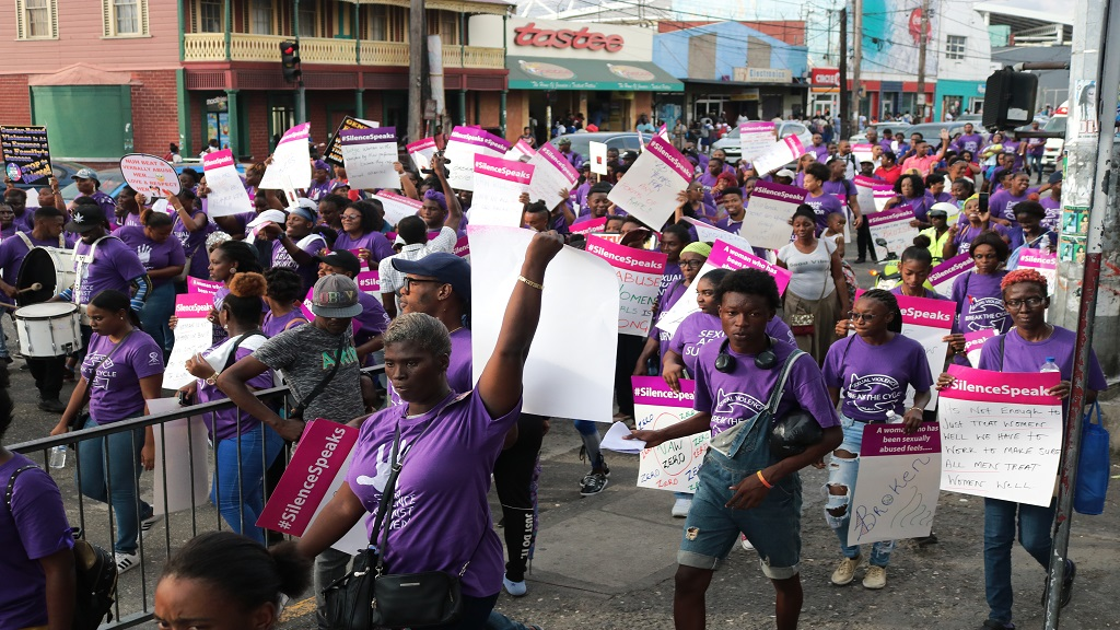 Over 300 Jamaicans took the streets of Kingston on Monday, November 25 to recognize International Day for the Elimination of Violence Against Women.
