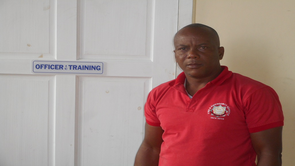 Saint Lucia Fire Service Divisional Officer in charge of training, Ditney Downes