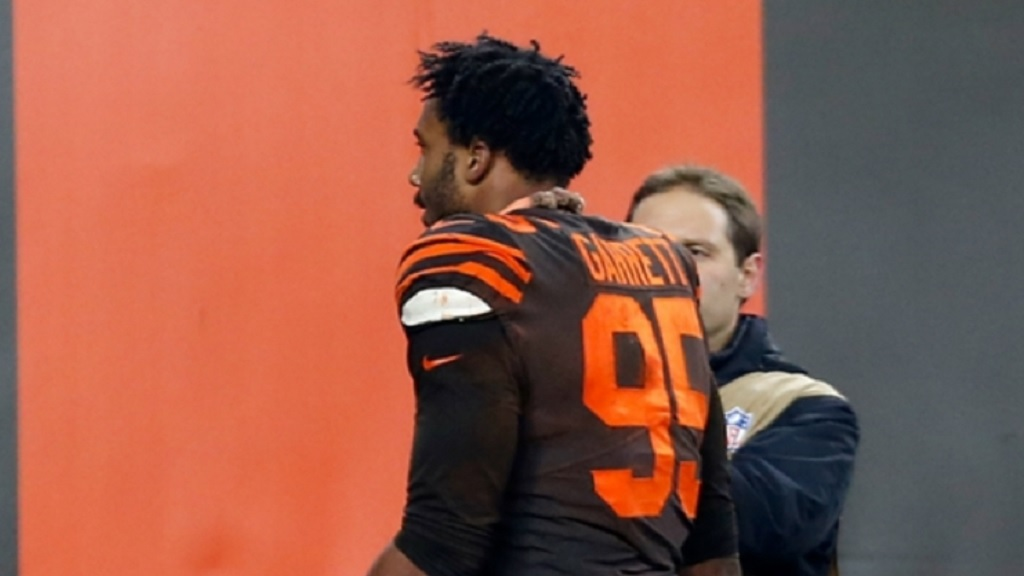 Myles Garrett's season is over.