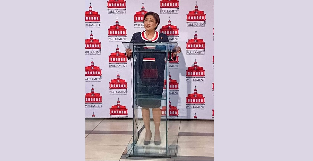 Pictured: Opposition Leader Kamla Persad-Bissessar.