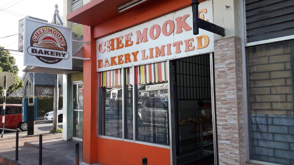 Chee Mooke Charford Court Branch at the corner of Charlotte and Oxford Streets, Port-of-Spain. Photo via Facebook, Chee Mooke Bakery Ltd.